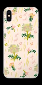 ピンクに野草 スキンシール IPhone X