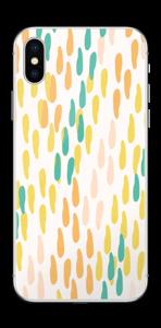 手描きの雨粒 スキンシール IPhone X
