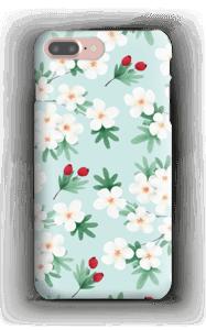 Valkoisia kukkia kuoret IPhone 7 Plus
