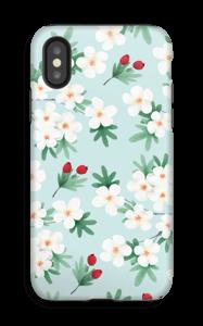 Valkoisia kukkia kuoret IPhone X tough