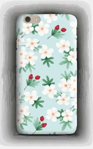 Valkoisia kukkia kuoret IPhone 6 Plus