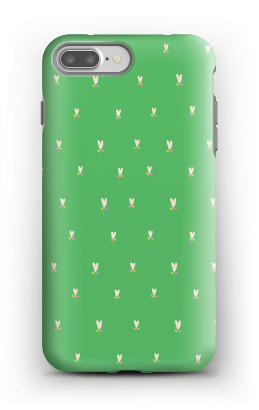 Grønne tulipaner deksel IPhone 7 Plus tough