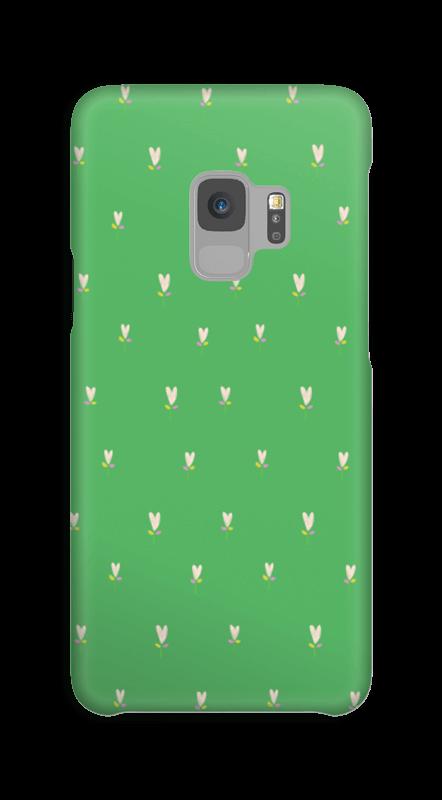 Grønne tulipaner deksel Galaxy S9