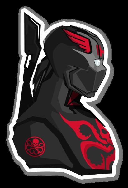 Hydra cap sticker