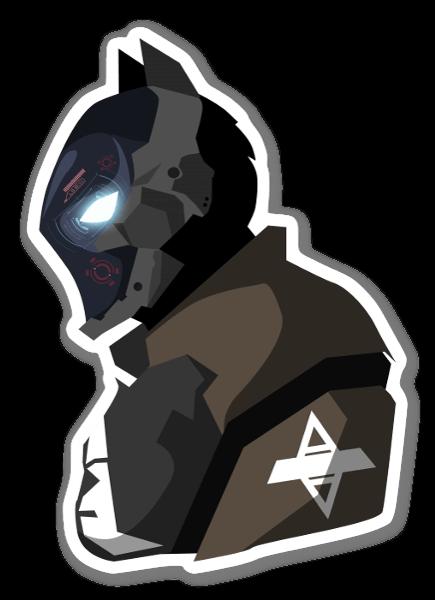 Caballero de Arkham pegatina