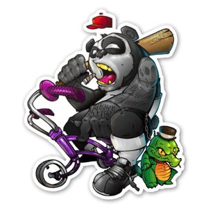 Gangsta Panda Sticker