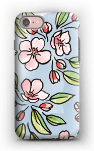 Blomster deksel IPhone 7 tough