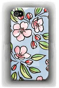 Blomster deksel IPhone 4/4s