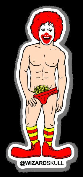 Sexy Ronald sticker