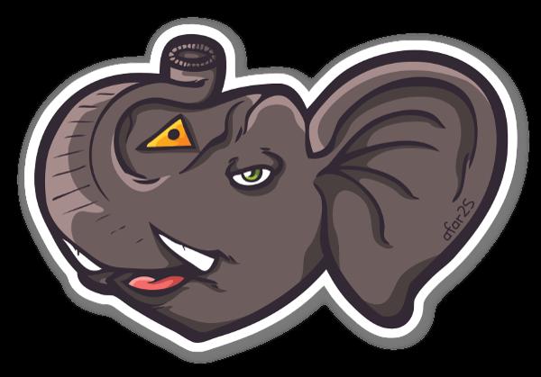 Lucky elephant sticker