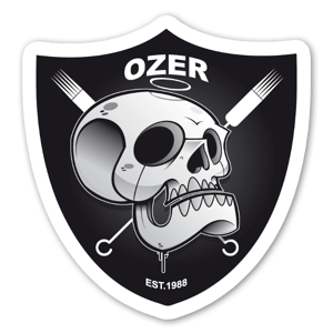 Ozer raider sticker