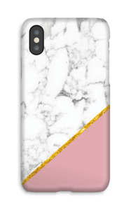 Marmo + rosa e oro cover IPhone X