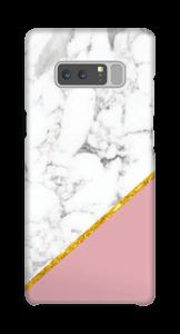 Marmer met Oudroze & Goud hoesje Galaxy Note8