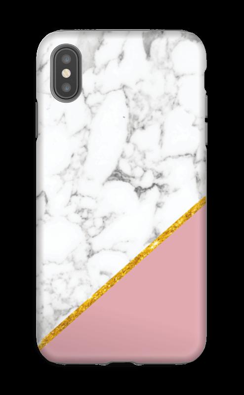 coque iphone xs max marbre rose