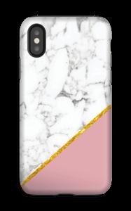 Marbre Rose et Or Coque  IPhone XS tough