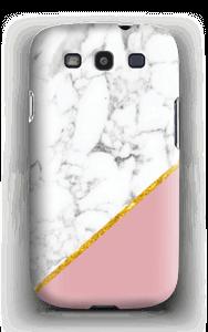 Marmor med gull og pudderrosa deksel Galaxy S3
