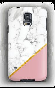 Marmor mit Pink und Gold Handyhülle Galaxy S5
