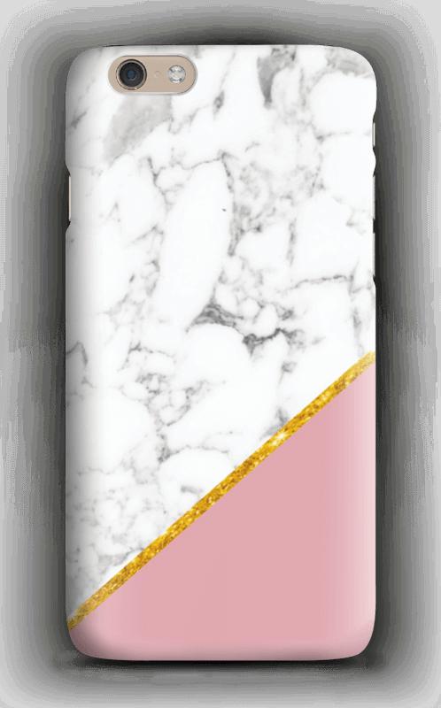 Marmor med gull og pudderrosa deksel IPhone 6