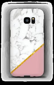 Marmer met Oudroze & Goud hoesje Galaxy S7 Edge