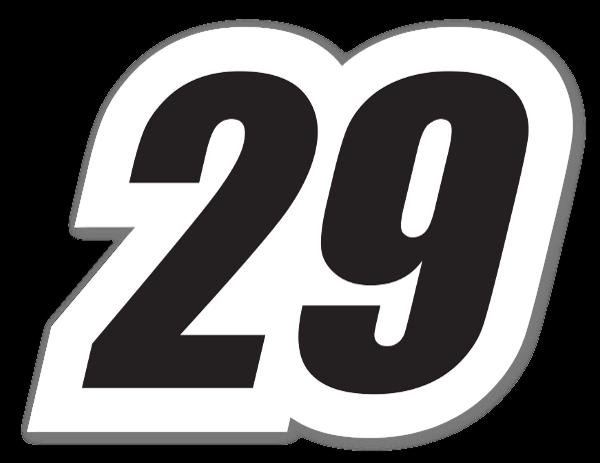 Racing 29 - zwart op wit sticker