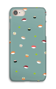 Sushi time + støvet blå cover IPhone 8