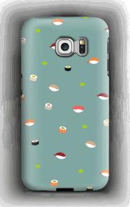 Sushi sininen kuoret Galaxy S6 Edge