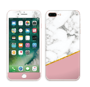 Marmor, pudderrosa og gull Skin IPhone 7 Plus