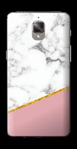 Marmor, pudderrosa og gull Skin OnePlus 3T