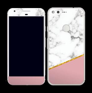 Marmor, pudderrosa og gull Skin Pixel