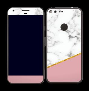 Marmor, pudderrosa og gull Skin Pixel XL