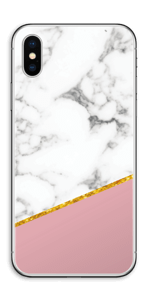 Marmer, Oudroze & Goud Skin IPhone XS