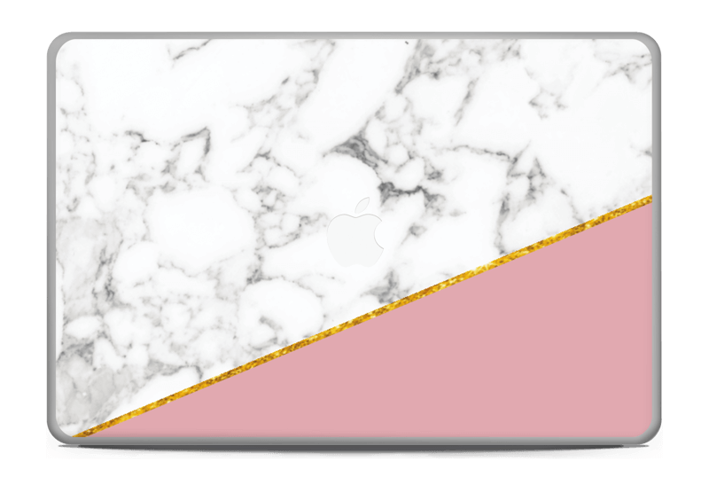 """Marmor, pudderrosa og gull Skin MacBook Pro 17"""" -2015"""