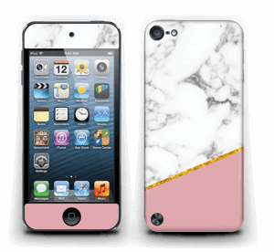 Marmor, pudderrosa og gull Skin IPod Touch 5th Gen