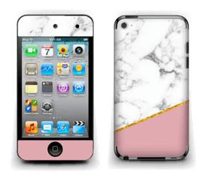Marmor, pudderrosa og gull Skin IPod Touch 4th Gen