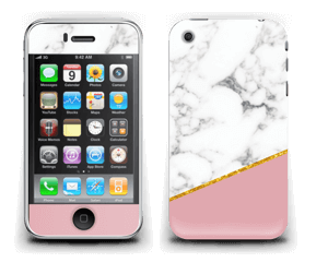 Marmor, pudderrosa og gull Skin IPhone 3G/3GS
