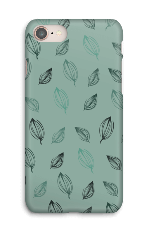 Falling Leaves Green case IPhone 8