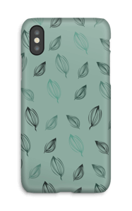 Falling Leaves Green case IPhone X