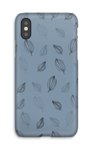 Falling Leaves Blue case IPhone X
