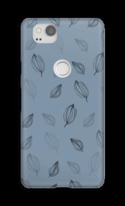 Blauwe bloemknoppen hoesje Pixel 2
