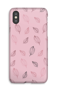 Falling Leaves Pink case IPhone X