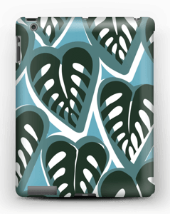 Tropical Plants turquoise Coque  IPad 4/3/2