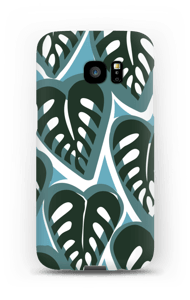 Tropical Plants turquoise Coque  Galaxy S7 Edge