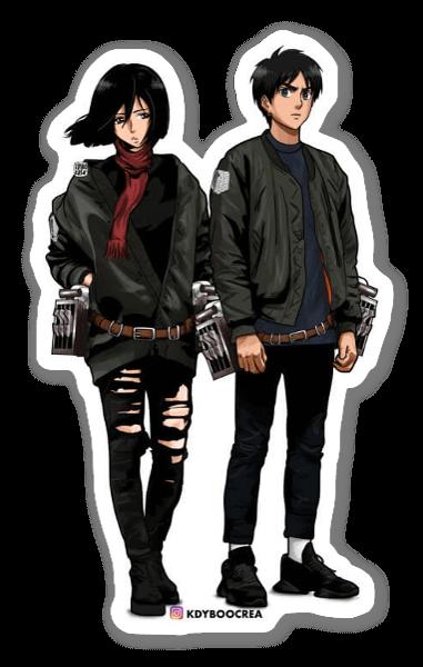 MIKASA&EREN sticker