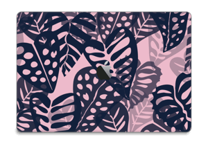 Tropical Plants Navy Skin MacBook Pro Touch Bar 15