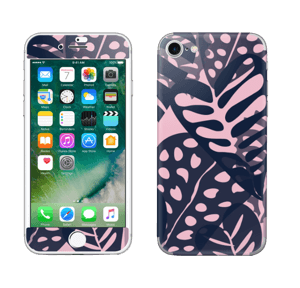 Tropical Plants Navy Skin IPhone 7
