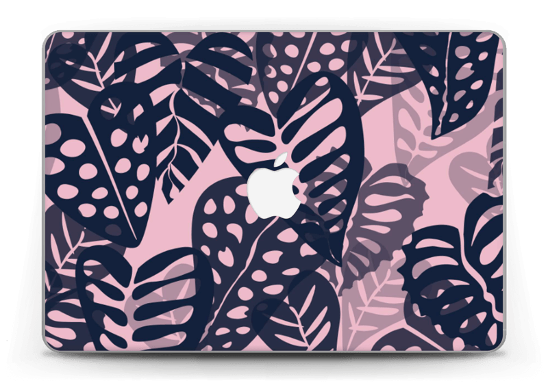 "Tropical Plants Navy Skin MacBook Pro Retina 13"" 2015"