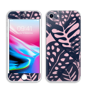 Tropical Plants Navy Skin IPhone 8