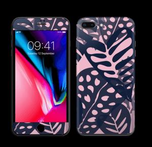 Tropical Plants Navy Skin IPhone 8 Plus