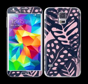 Tropical Plants Navy Skin Galaxy S5