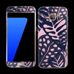Tropical Plants Navy Skin Galaxy S7